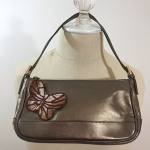 Stuart Weitzman petit leather handbag.